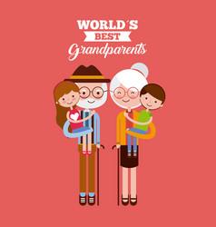best grandparents design vector image