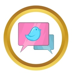 Bird on a speech bubble icon vector