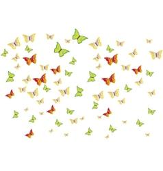 Butterflies swarm vector