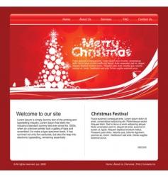 Christmas web template vector image
