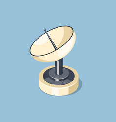 Communications satellite dish icon vector