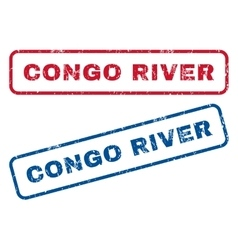 Congo river rubber stamps vector