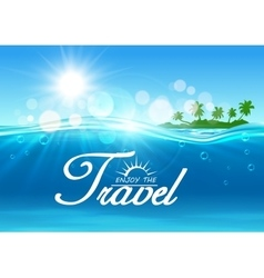 Enjoy travel poster summer vacation banner vector