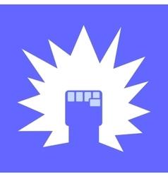 Fist logo template vector
