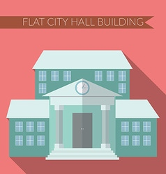 Flat design modern of city hall building icon with vector image