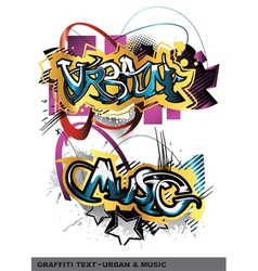 Graffiti text vector