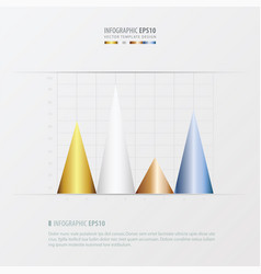 graph and infographic design gold bronze vector image
