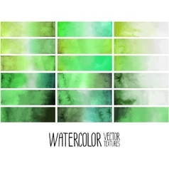 Green watercolor gradient rectangles vector image vector image