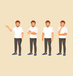 man in different poses vector image vector image