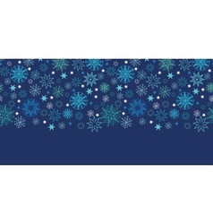 Night snowflakes seamless pattern background vector image vector image