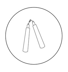 nunchuck icon outline single weapon icon from the vector image