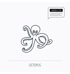 Octopus icon Ocean devilfish sign vector image