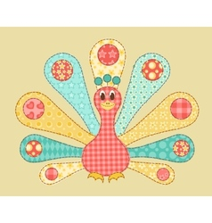 Peacock patchwork vector