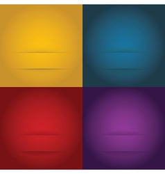 Set of abstract templates background vector image vector image