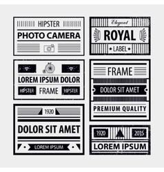 set of modern hipster frames labels vector image vector image