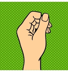 Silhouette hand symbol vector image