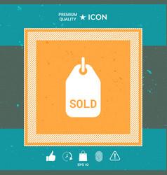 sold symbol tag vector image vector image