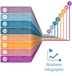 Template infographic lines strips perspective 8 vector