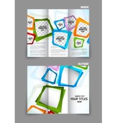 Tri fold brochure vector image vector image