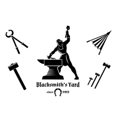 Vintage blacksmith vector