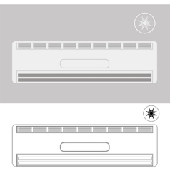 Wall-mounted Air Conditioner vector image vector image
