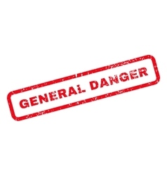 General danger text rubber stamp vector