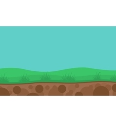 Green hill nature landscape backgrounds vector