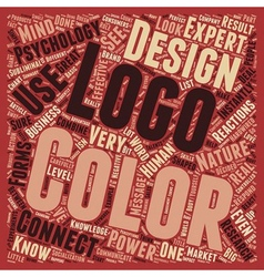 Color psychology logo design text background vector