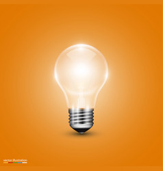 Light bulb on background vector