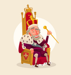 happy smiling king man character vector image