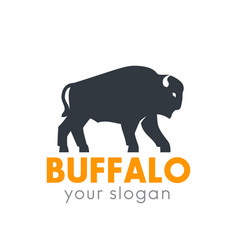 Buffalo logo element isolated over white vector
