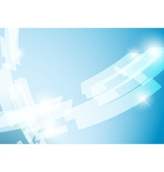 Light blue abstract background with shiny figures vector