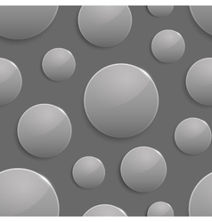 Black and white colored circles with light spot vector