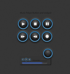 Music player widged and button vector