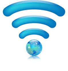 global wifi vector image