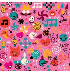 Fun cartoon pattern 2 vector