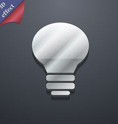 Light lamp idea icon symbol 3d style trendy modern vector