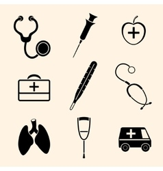 Isolated medical icons vector