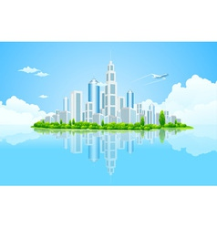 City landscape island vector