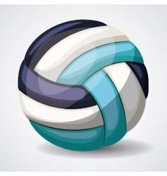 Volleyball league design vector