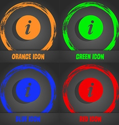 Info icon fashionable modern style in the orange vector