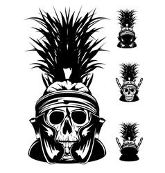 skull in helmet vector image