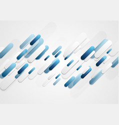 Abstract blue grey tech stripes corporate vector