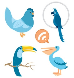 blue birds part 1 vector image