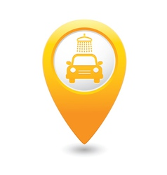 car wash pointer yellow vector image