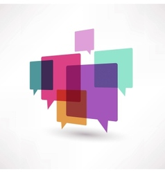 Cloud speech bubble vector image vector image