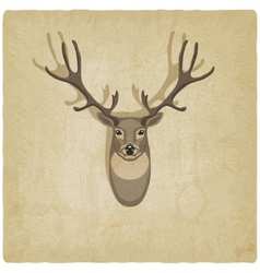 deer old background vector image
