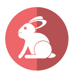 Easter bunny cute symbol shadow vector