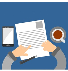 Examining a business contract vector
