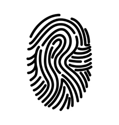 fingerprint finger human person vector image